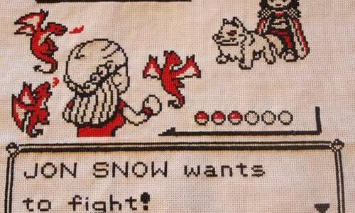Game of Thrones Pokemon Cross Stitch by Beki710 (source: mrxstitch.com)