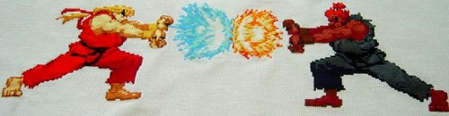 Street Fighter Cross Stitch by Celes_Lionheart (source: spritestitch.com)