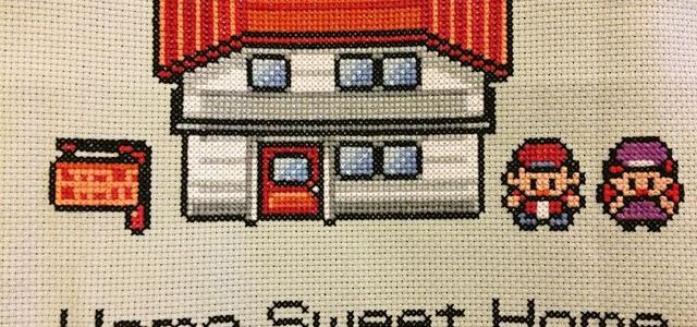 Pokemon Home Sweet Home Cross Stitch by Lord Libidan