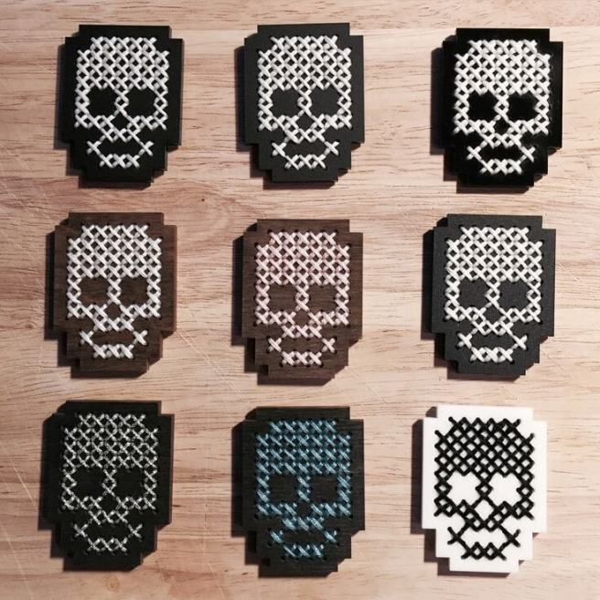 Skulls Cross Stitch by Kate Blandford (source: kateblandford.com)