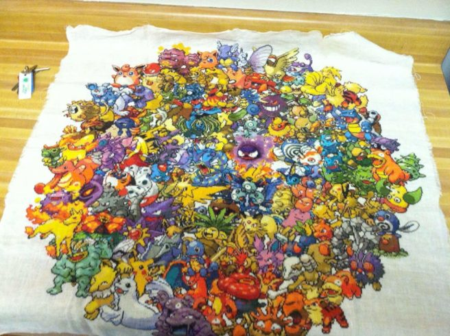 Pokemon Cross Stitch by 42kayla (source: twitter.com)