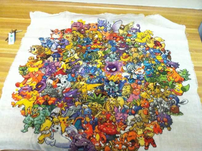 pokemon cross stitch circle