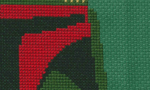 Boba Fett Mask Cross Stitch by Lord Libidan