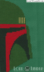 Boba Fett Mask Cross Stitch