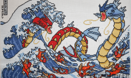 Pokemon Great Wave Cross Stitch by Lord Libidan