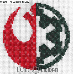 Star Wars Logo Mix Cross Stitch