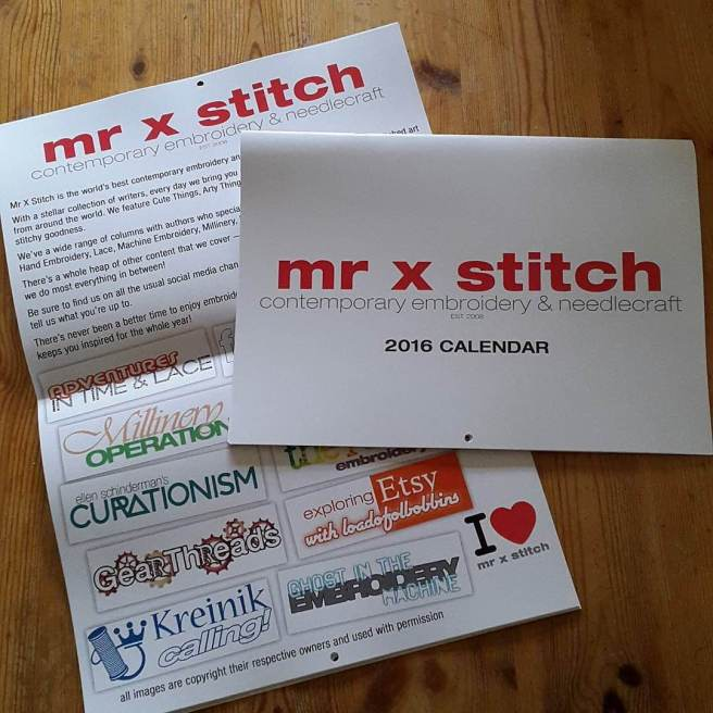 Mr X Stitch 2016 Calender Lord Libidan