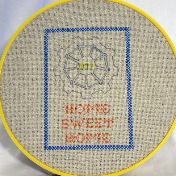 Fallout 3 Home Sweet Home Sampler Cross Stitch (source: reddit)