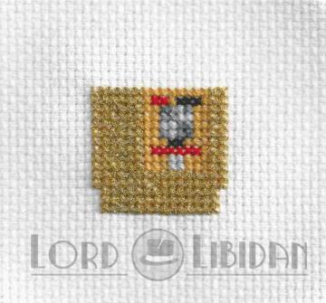 Golden Zelda Cartridge Cross Stitch