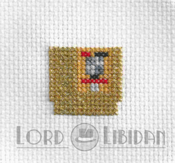 Golden Zelda Cartridge Cross Stitch