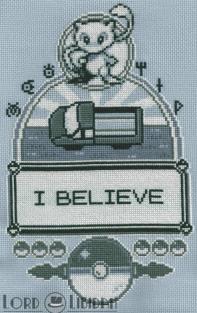 I Believe In Mew Cross Stitch