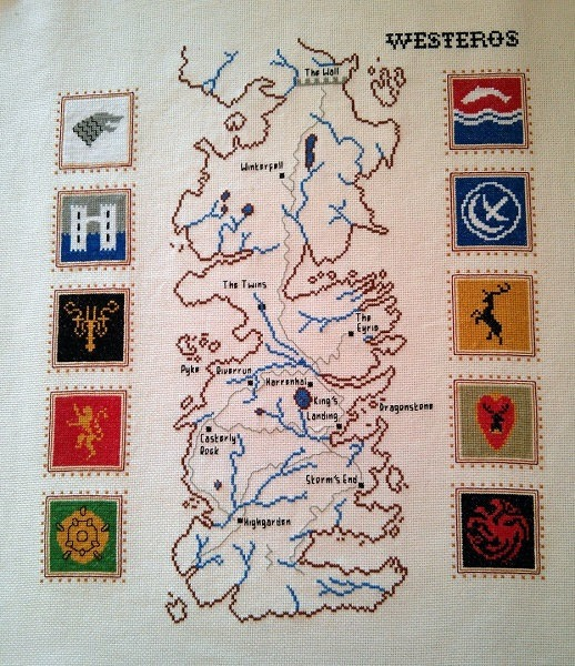 game of thrones map cross stitch