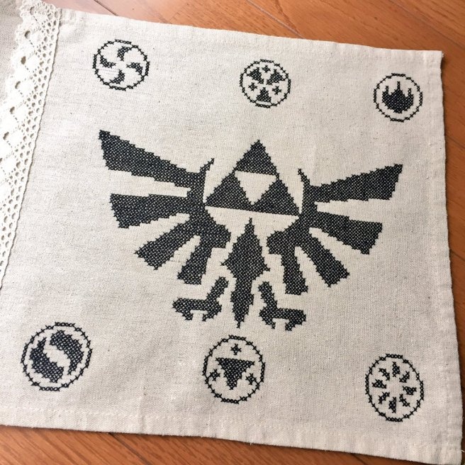 クロスステッチ zelda cross stitch (source: twitter)