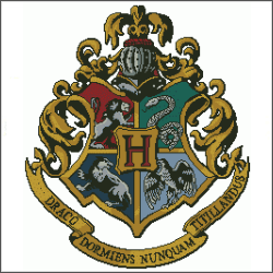 free harry potter crest cross stitch pattern