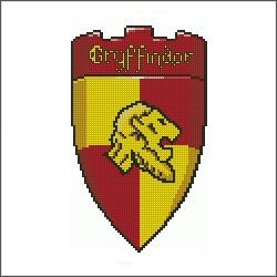 harry potter gryffindor v2 cross stitch pattern