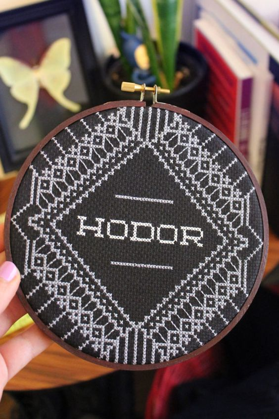 hodor cross stitch