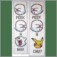 pokemon pikaboo pikachu cross stitch pattern