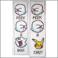pokemon pikaboo pikachu cross stitch pattern