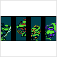tmnt nes cross stitch pattern