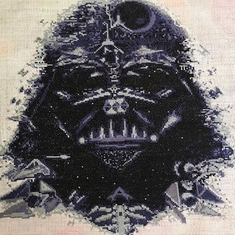 vader composite star wars cross stitch