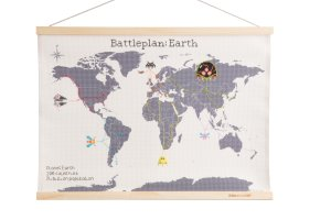 battleplan earth 8 bit video game cross stitch world map by lord libidan