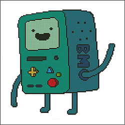 free adventure time bmo cross stitch pattern