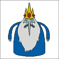 free adventure time ice king cross stitch pattern