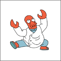 free futurama zoidberg cross stitch pattern