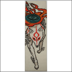 free okami bookmark cross stitch pattern