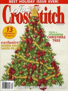 just cross stitch magazine christmas cover