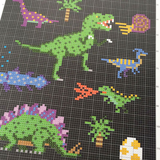 fun cross stitch book full color preview by makoto oozu (source: oozu.jp)