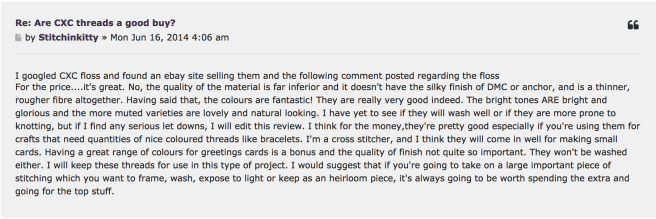 CXC threads forum comments