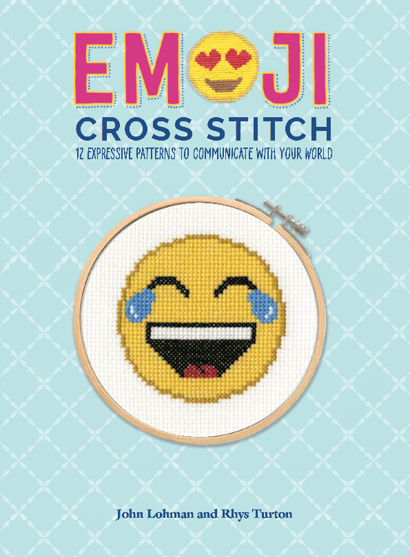 Emoji Cross Stitch Book Cover by Lord Libidan (source: amazon)