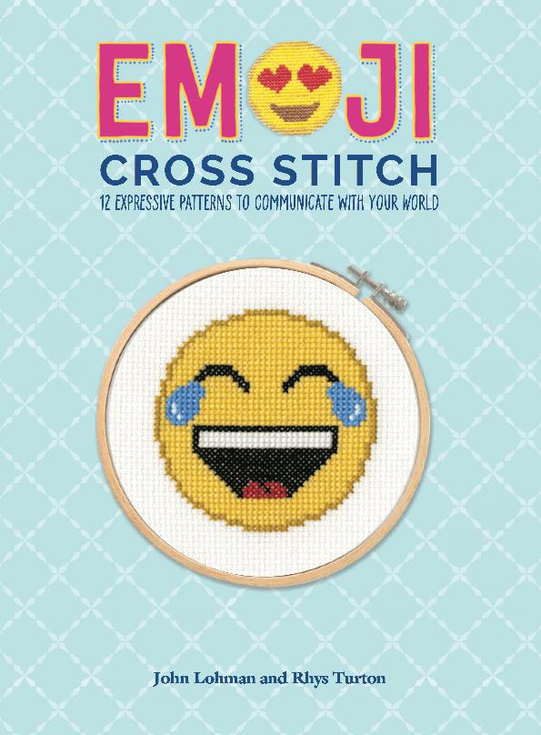 Emoji Cross Stitch Book Cover 1