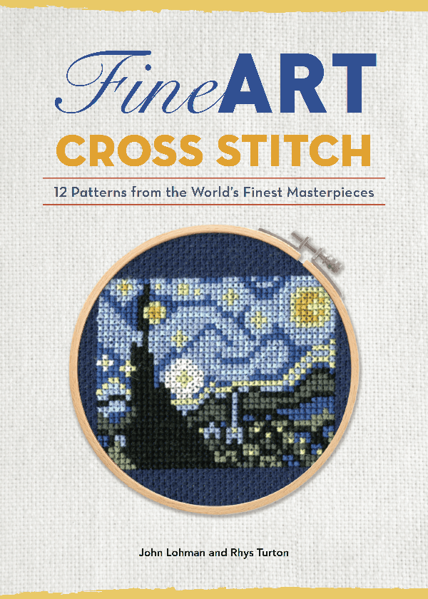 Fine Art Cross Stitch Book Cover by Lord Libidan (source: amazon)