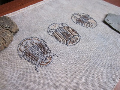 trilobite cross stitch by adventures in stitching