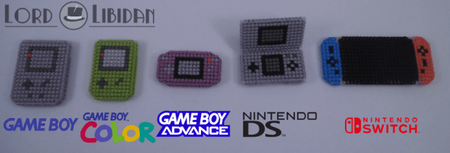Micro Gameboy Cross Stitches by Lord Libidan