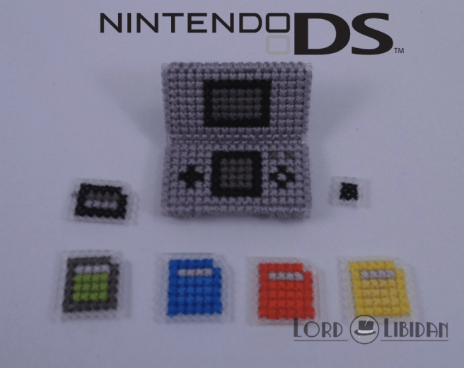 Title: Nintendo DS Micro Console Date Completed: June 2018 Design: Lord Libidan Count: 14 Canvas: Plastic Colours: 3 Game: Nintendo Gameboy DS