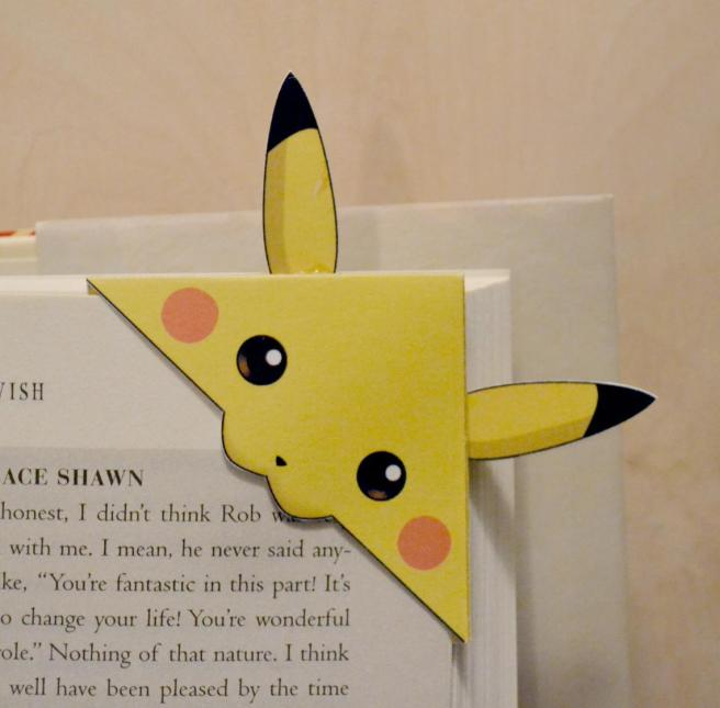 Pikachu paper bookmark by MokosMakery (source: Etsy)
