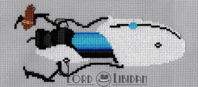 Portal Gun Cross Stitch by Lord Libidan