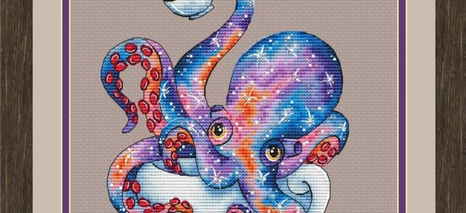 Octopus Tea Cross Stitch Pattern by LoLaLottaShop (Source: Etsy)