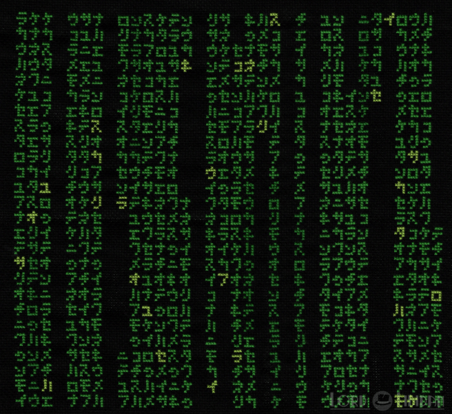 Matrix Code Cross Stitch by Lord Libidan