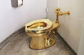 Gouden wc-pot Callelan