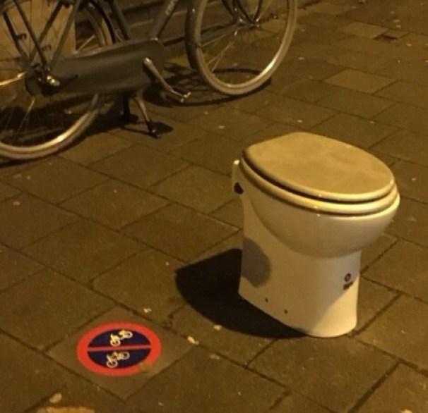 Wc-pot op straat
