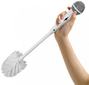Pleeborstel met microfoon