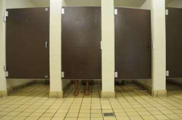 wc-hokjes op rij
