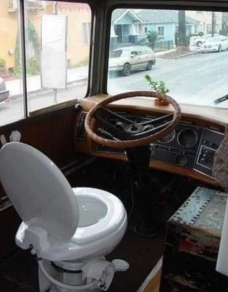 wc-stoel op bus