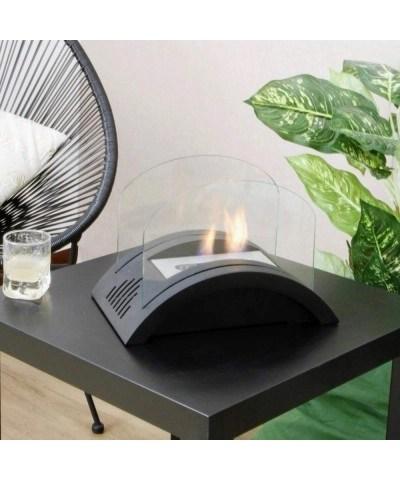 chauffage de table cheminee au bioethanol cheminee black rocky 00144