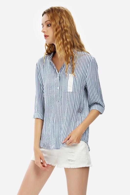 Blue Stripe Blouse