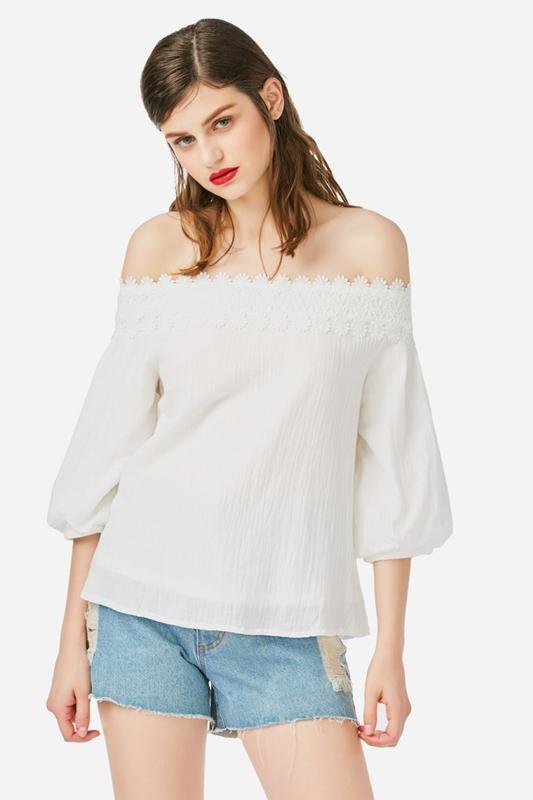 off shoulder blouse ZANSTYLE
